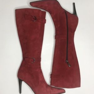 Claudia Ciuti Italian Red Suede Boots Sz 7